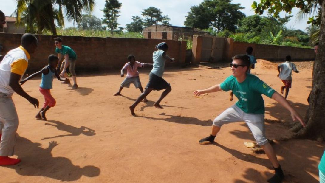 Playing fun games in Togo